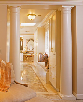 Neoclassical elegance in the master bath