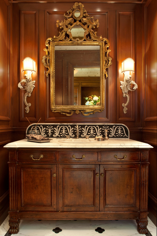 Powder Room inspired by Sienna Cathedral