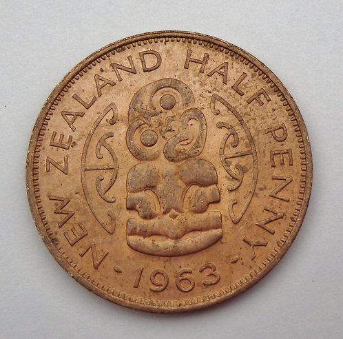 New Zealand - Half Penny - 1963