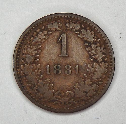 Austria - Kreuzer - 1881
