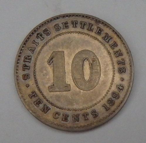 Straits Settlements - 10 Cents - 1894