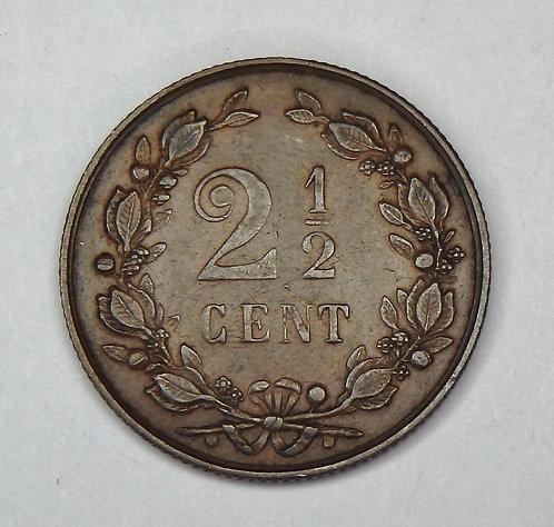 Netherlands - 2 1/2 Cent - 1890