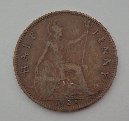 Great Britain - Half Penny - 1928