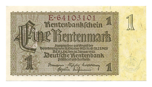 Germany - 1 Rentenmark - 1937