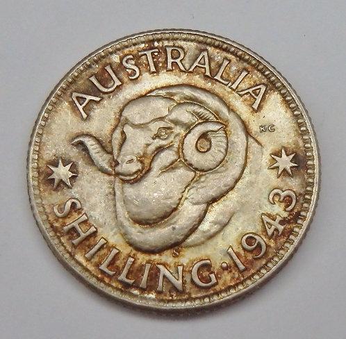 Australia - Shilling - 1943-S