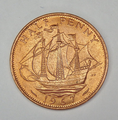 Great Britain - 1/2 Penny - 1967