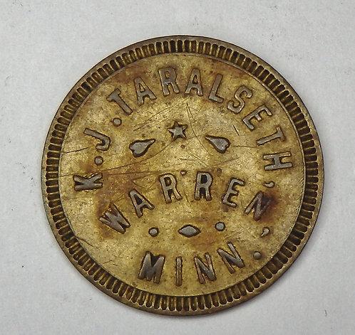 Minnesota, Warren - K.J. Taralseth Token