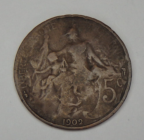 France - 5 Centimes - 1902