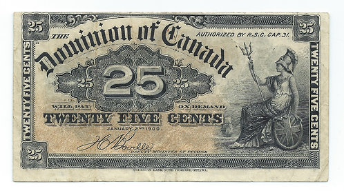 Canada - 25 Cents - 1900