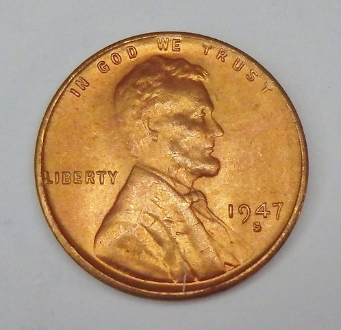 1947-S Wheat Cent