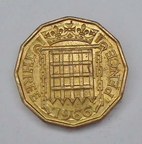 Great Britain - 3 Pence - 1966