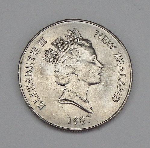 New Zealand - 50 Cents - 1987