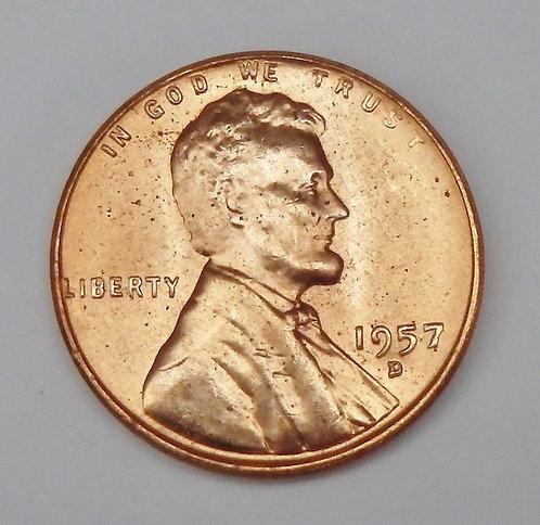 1957-D Wheat Cent