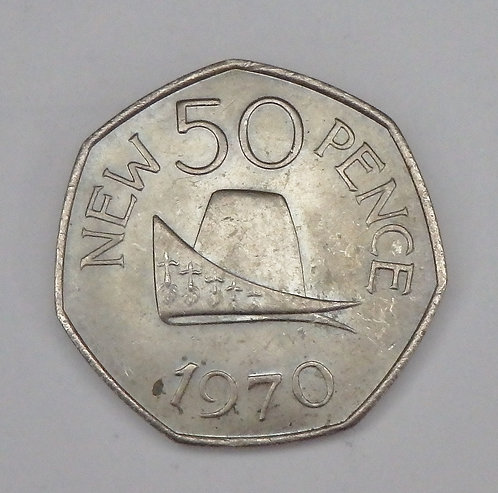 Guernsey - 50 New Pence - 1970