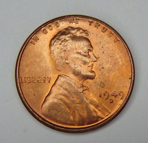 1949-D Wheat Cent