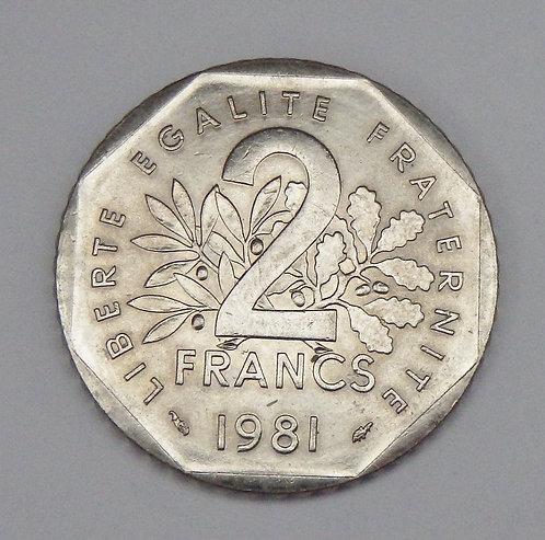 France - 2 Francs - 1981