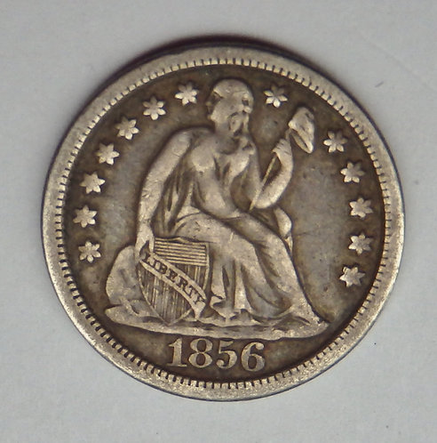 1856 Seated Liberty Dime