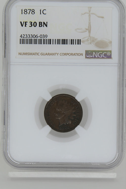 1878 Indian Cent