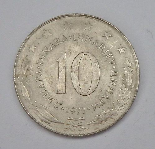 Yugoslavia - 10 Dinara - 1977