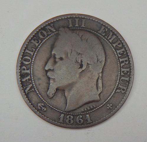 France - 5 Centimes - 1861-BB