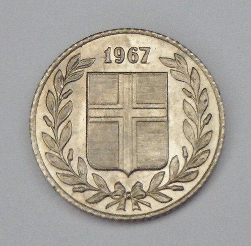 Iceland - 25 Aurar - 1967