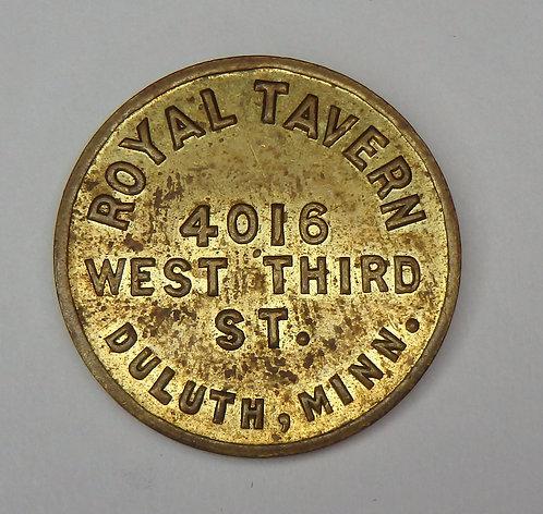 Minnesota, Duluth - Royal Tavern Token