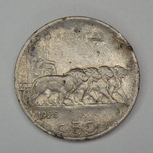 Italy - 50 Centesimi - 1926-R