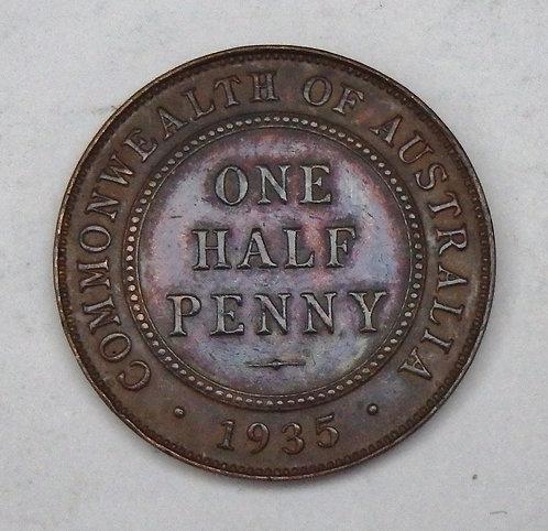 Australia - Half Penny - 1935