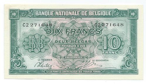 Belgium - 10 Francs - 1943