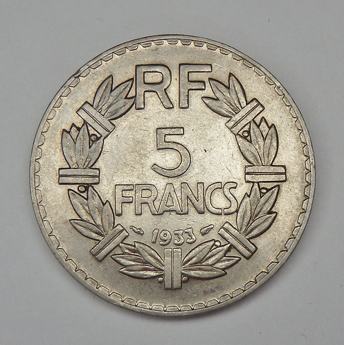 France - 5 Francs - 1933