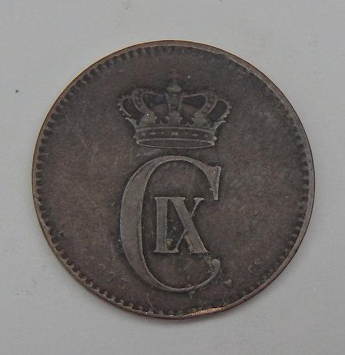 Denmark - 2 Ore - 1875-CS