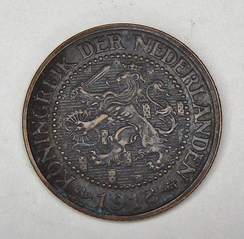Netherlands - 2 1/2 Cent - 1918