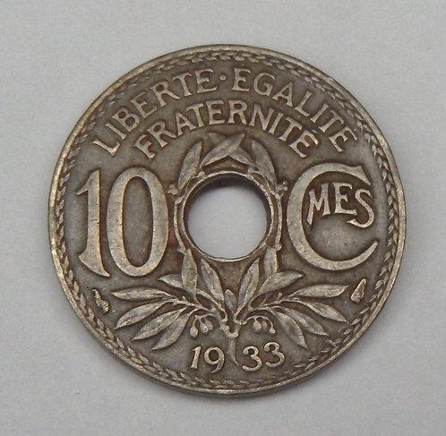 France - 10 Centimes - 1933
