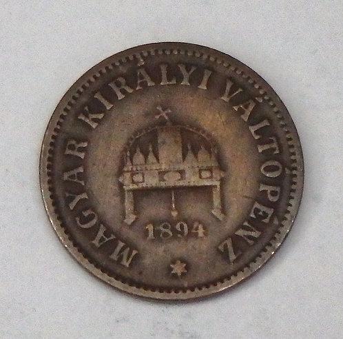 Hungary - 2 Filler - 1894KB