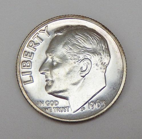 1963 Roosevelt Dime