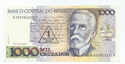 Brazil - 1 Cruzado Novo - 1989