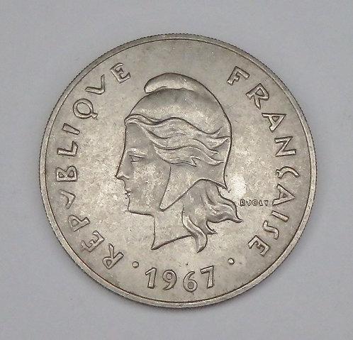 French Polynesia - 50 Francs - 1967