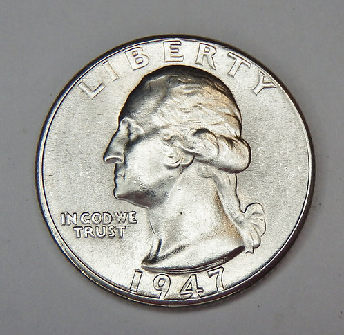 1947-D Washington Quarter