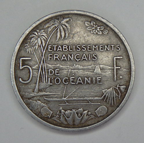 French Oceania - 5 Francs - 1952