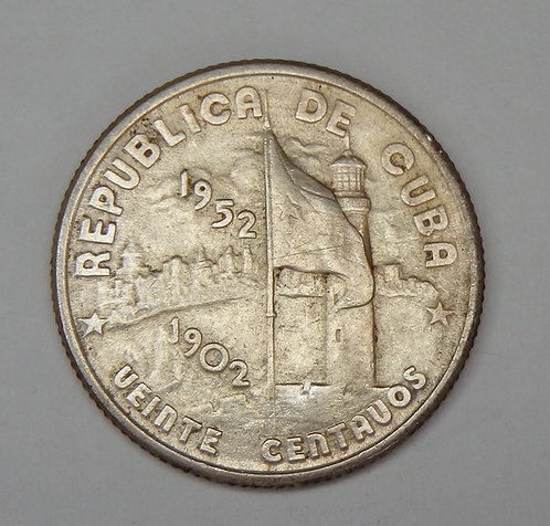 Cuba - 20 Centavos - 1952