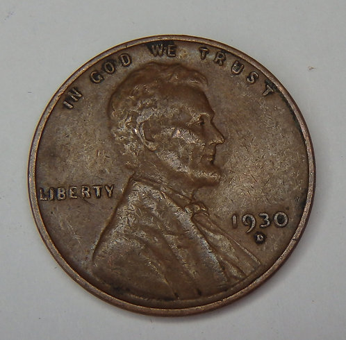 1930-D Wheat Cent
