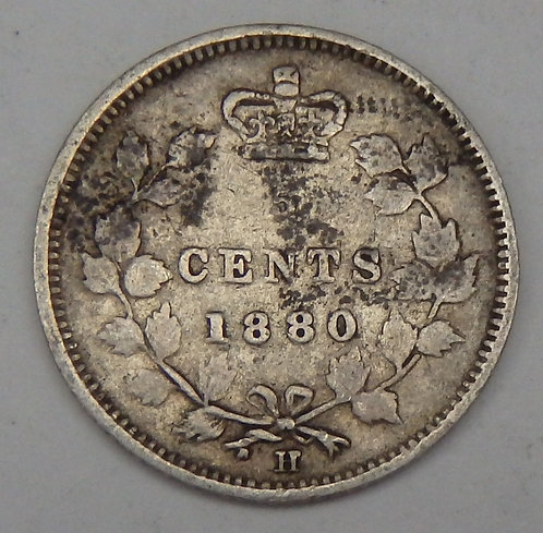 Canada - 5 Cents - 1880-H