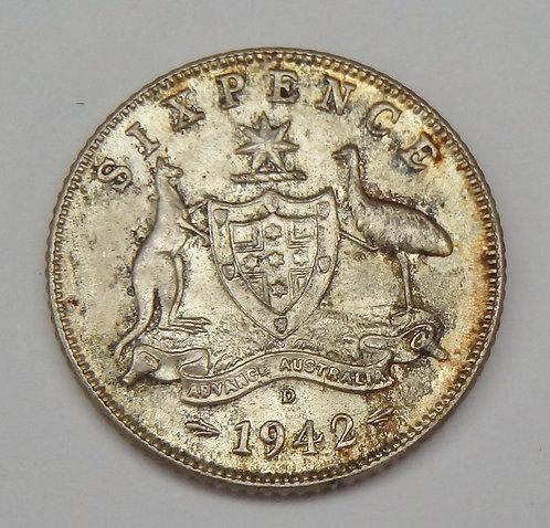 Australia - 6 Pence - 1942-D