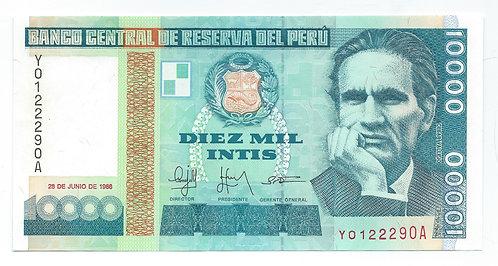 Peru - 10,000 Intis - 1988
