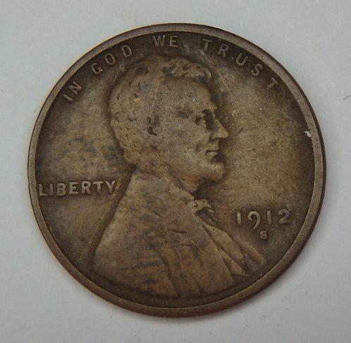 1912-S Wheat Cent