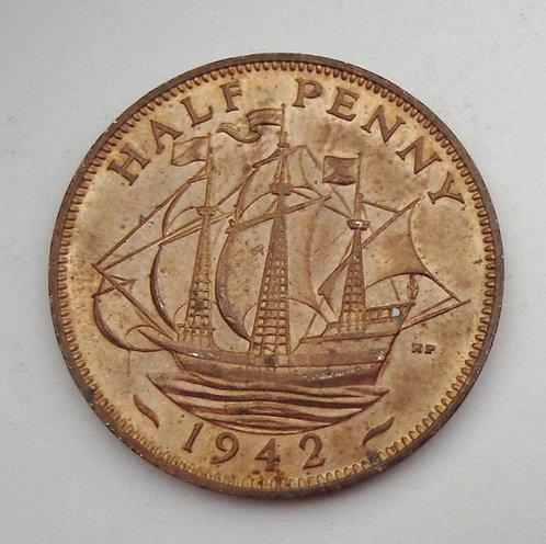 Great Britain - Half Penny - 1942