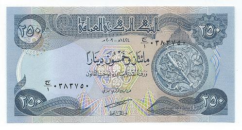 Iraq - 250 Dinars - 2003