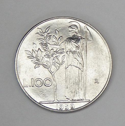 Italy - 100 Lire - 1959-R