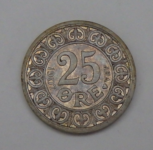 Denmark - 25 Ore - 1907