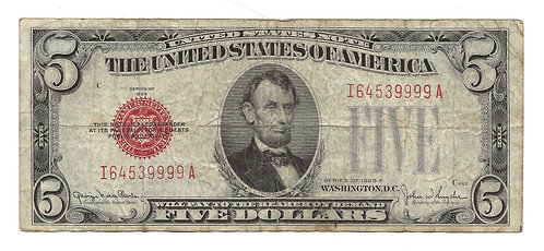 1928-F $5 Federal Reserve Note